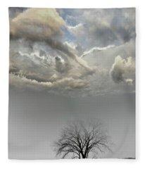 Big Sky One Tree Fleece Blanket