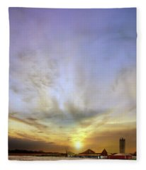 Big Sky Rural Sunset Fleece Blanket
