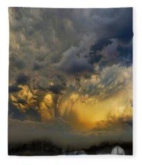 Big Sky Yellow Light Fleece Blanket