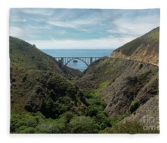 Big Sur Beauty Fleece Blanket