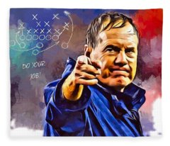 Bill Belichick Do Your Job Portrait Fleece Blanket