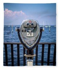 Fleece Blanket featuring the photograph Binocular Viewer by Steve Stanger