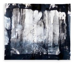 Fleece Blanket featuring the painting Birch by 'REA' Gallery