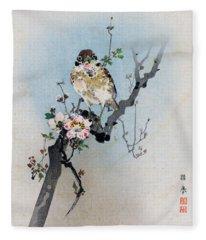 Bird And Petal Fleece Blanket