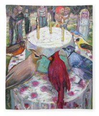 Bird Day Party Fleece Blanket