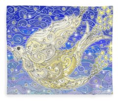 Bird Generating Stars Fleece Blanket