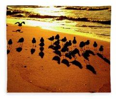 Bird Shadows Fleece Blanket