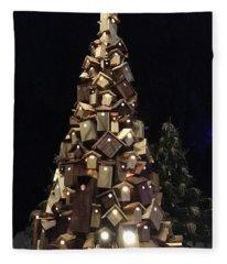 Birdhouse Tree Fleece Blanket