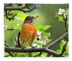 Birds - American Robin - Nature's Alarm Clock Fleece Blanket