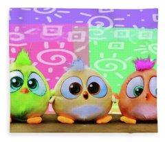 Birds In The Nursery Fleece Blanket
