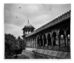 Fleece Blanket featuring the photograph Birds Over The Jama Masjid by Whitney Goodey