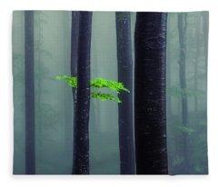 Bit Of Green Fleece Blanket
