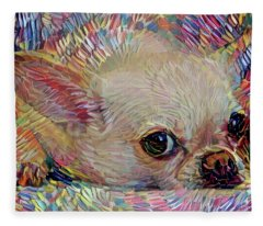 Bitsy The Chihuahua Fleece Blanket