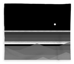 Black And White Abstract Seascape Fleece Blanket