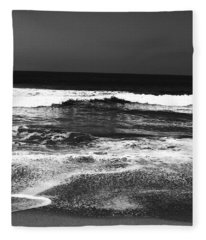 Black And White Beach 7- Art By Linda Woods Fleece Blanket