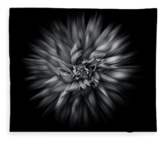 Fleece Blanket featuring the photograph Black And White Flower Flow No 5 by Brian Carson