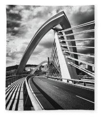 Black And White Version Of The Millennium Bridge Fleece Blanket