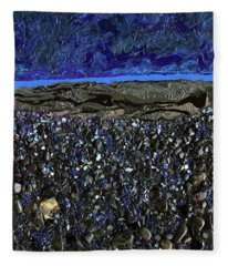 Black As Night Fleece Blanket