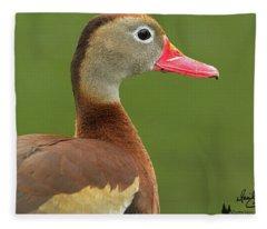 Black-bellied Whistling Duck Fleece Blanket