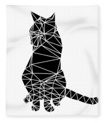 Black Cat Fleece Blanket