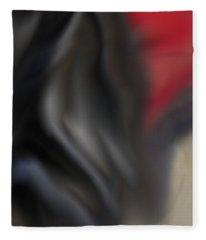 Black Dog 2 Fleece Blanket