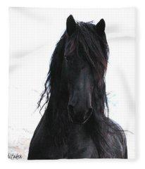 Black Pearl Gaze Fleece Blanket
