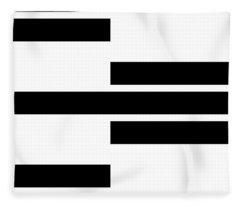 Black Rectangles I Fleece Blanket