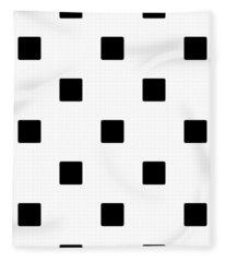 Black Squares On A White Background- Ddh574 Fleece Blanket