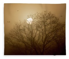 Blackbird Sunrise Fleece Blanket