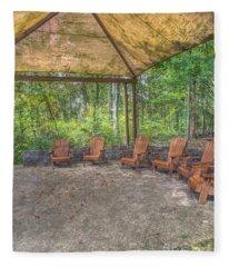 Blacklick Woods - Chairs Fleece Blanket