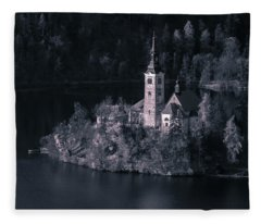 Bleed Castle Bw Fleece Blanket