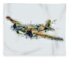 Blenheim Bomber Fleece Blanket