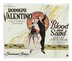 Blood And Sand, 1922 Fleece Blanket