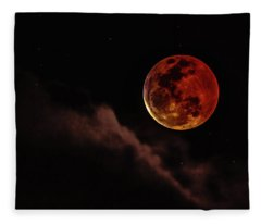 Blood Moon Rising Fleece Blanket
