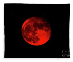 Blood Red Wolf Supermoon Eclipse 873a Fleece Blanket