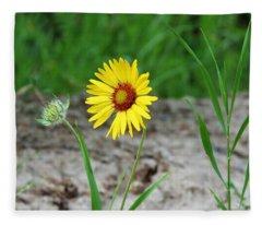 Bloom And Waiting Fleece Blanket