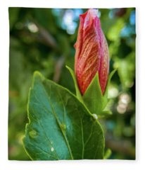 Blooming Hibiscus Fleece Blanket