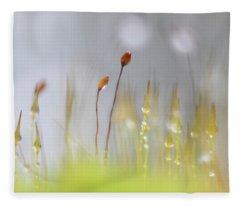 Blooming Moss Fleece Blanket
