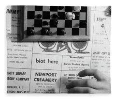 Blot Here, Aka Black's Move, 1972 Fleece Blanket