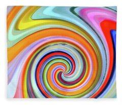 Blown Glass Artwork Fleece Blanket