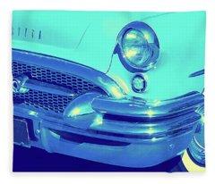 Blue 1955 Buick Special Fleece Blanket