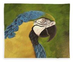 Blue And Gold Mccaw Fleece Blanket