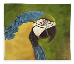 Blue And Gold Mccaw Fleece Blanket