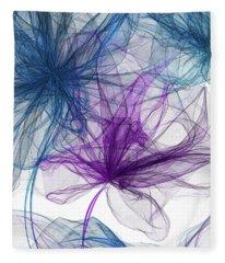 Blue And Purple Artwork  Fleece Blanket