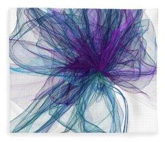 Blue And Purple Art  Fleece Blanket