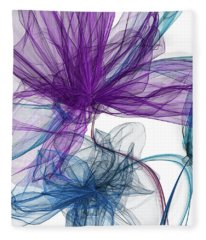 Blue And Purple Abstract Art Fleece Blanket