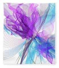 Blue And Purple Art II Fleece Blanket