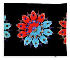 Blue And Red Fleece Blanket