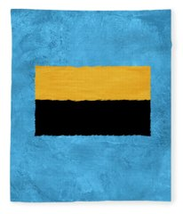 Blue And Square Theme I Fleece Blanket
