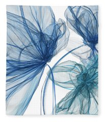Blue And Turquoise Art Fleece Blanket